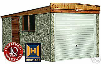 "14F 3"" X 8Ft6"" Concrete Sectional Garage/garages,free Upvc On Standard Garages"