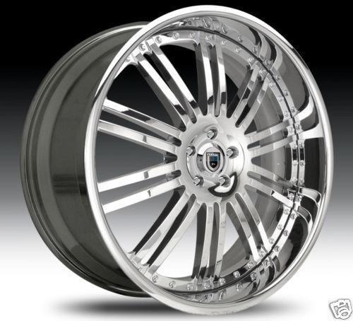 AF128 AF 128 Chrome Multi 2 Piece Rims Wheels Tires Package