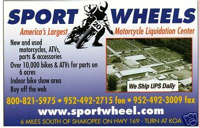 SPORT WHEELS MOTORCYCLES and PARTS