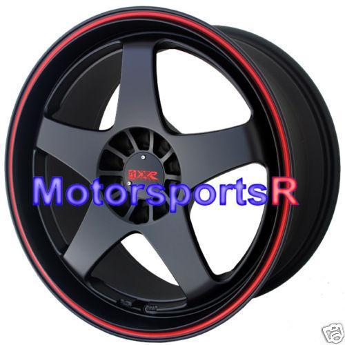 18 XXR 962 Black Red Stripe Rims Wheels 5x114 3 08 09 10 11 Scion XB