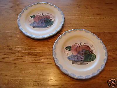 set of 2 plates country style apple ^^